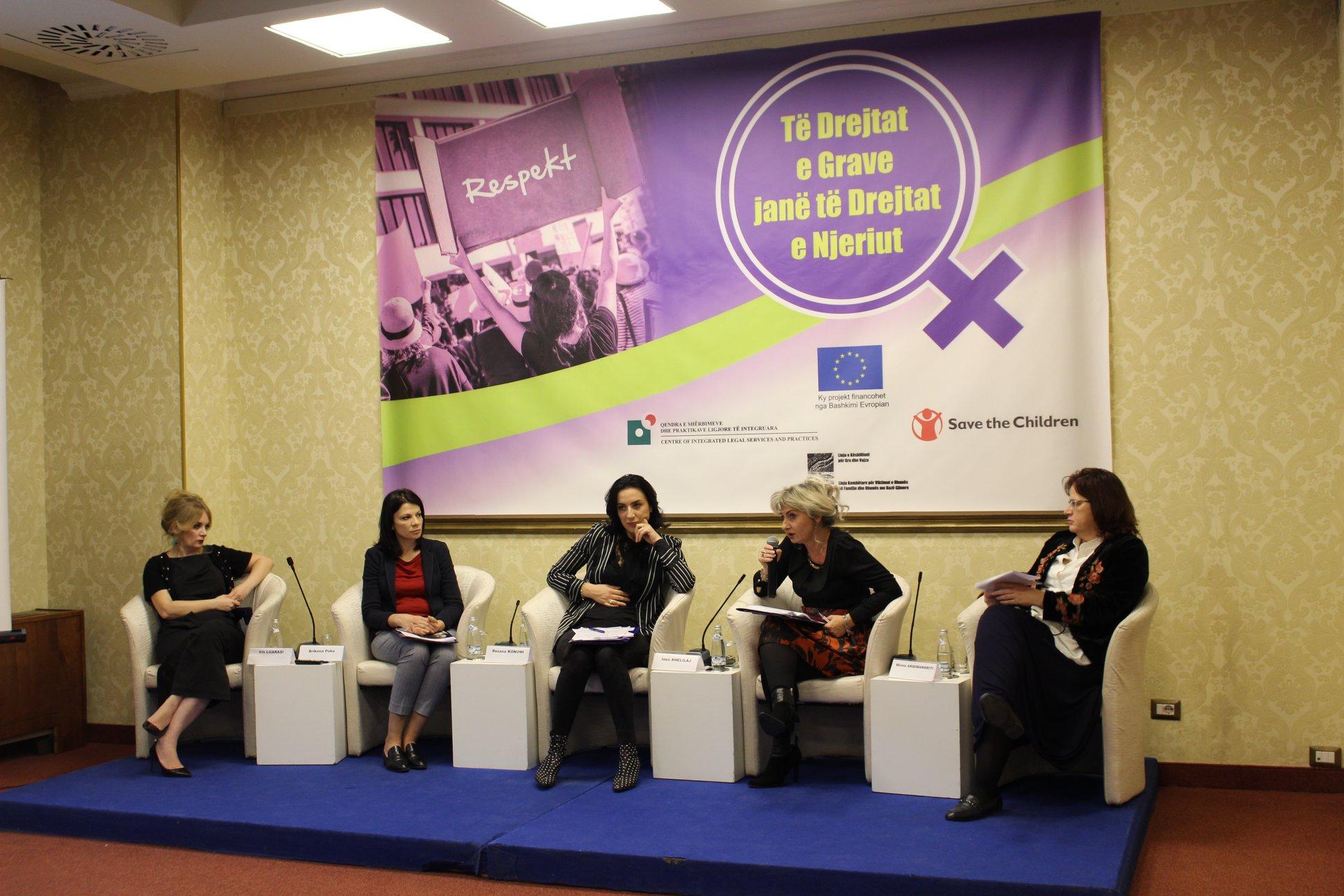 """Paneli i dytë i Konferencës Kombëtare """"Të Drejtat e Grave janë të Drejtat e Njeriut""""."""